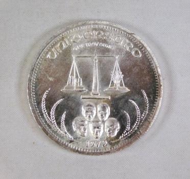 1972 Spaceflight*One Ounce .999 Fine Silver World Trade Unite