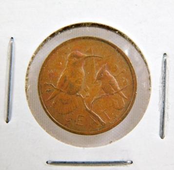 1973 British Virgin Islands 1 Cent*Nice Detail