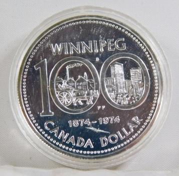 1974 Canada Proof Silver Dollar*Winnipeg Centennial
