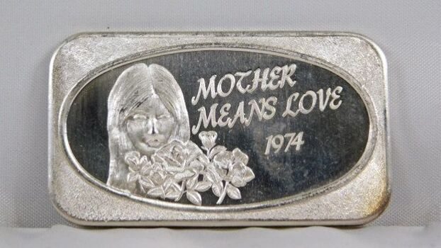 1974 Mother Means Love .999 Fine Silver 1 Oz. Bar