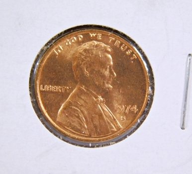1974-S Brilliant Uncirculated Lincoln Memorial Cent - Excellent Detail and Luster