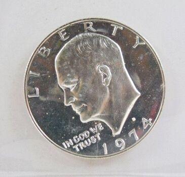 "1974-S Proof Eisenhower ""IKE"" Silver Dollar*DCAM"