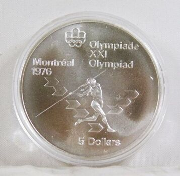 1975 Canada Silver $5 Olympics Coin*In Protective Capsule