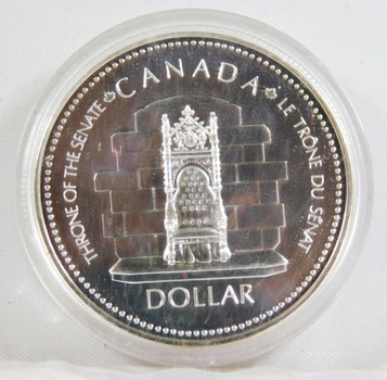 1977 Canada Proof Silver Dollar*Silver Jubilee*Throne of the Senate
