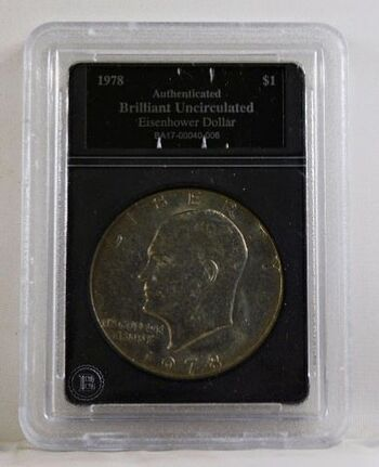 """1978 Eisenhower """"IKE"""" Dollar*Authenticated Brilliant Uncirculated"""