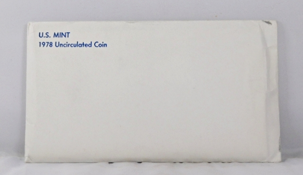 1978 United States Mint Uncirculated Coins Set*D and P Mint Marks*In Original Mint Envelope