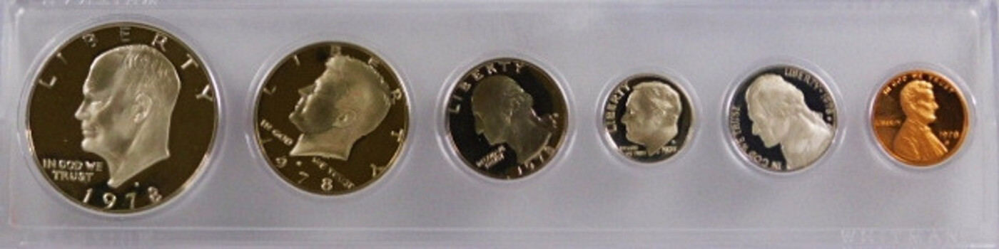 1978-S Proof Set Cent-Dollar 6 Coins
