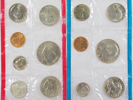 1980 Mint Set Cent to Dollar Includes 13 Coins 3 Are Dollars
