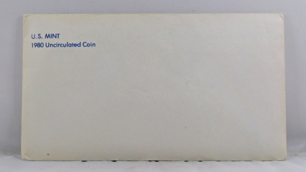 1980 United States Mint Uncirculated Coin Set*D and P Mint Marks*In Original Mint Envelope