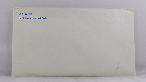 1981 United States Mint Uncirculated Coin Set*D and P Mint Marks*In Original Mint Envelope