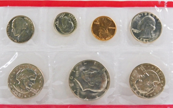 1981 United States Uncirculated Coin Set*S & D SBA*In Original Mint Cellophane