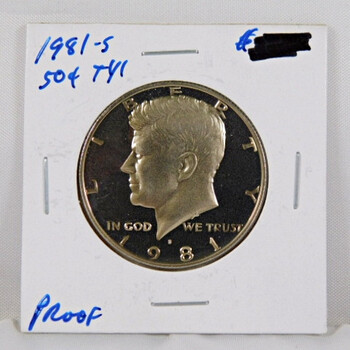 1981-S Proof Kennedy Half Dollar