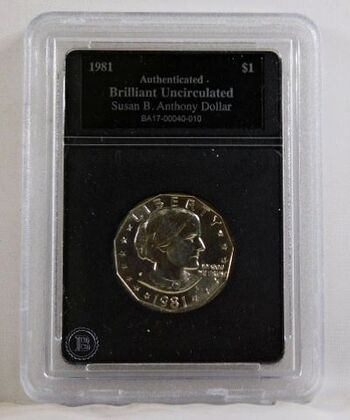 1981-S Susan B. Anthony Commemorative Dollar*Authenticated Brilliant Uncirculated