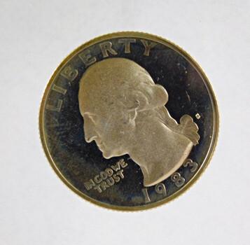 1983-S Proof Washington Quarter Nice Toning