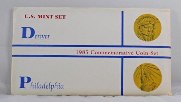 1985 Commemorative Coin Set both D & P Mint - In Original Mint Packaging