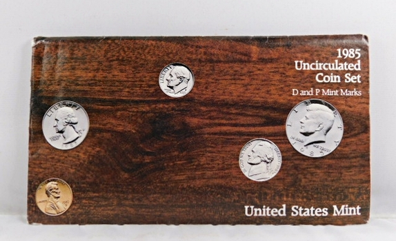 1985 United States Mint Uncirculated Coin Set*D and P Mint Marks*In Original Mint Envelope