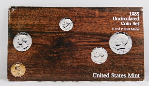 1985 United States Mint Uncirculated Coins Set*D and P Mint Marks*In Original Mint Envelope