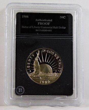1986-S Proof Liberty/Ellis Island Commemorative Half Dollar*Authenticated Proof