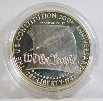 1987-S Proof 200th Ann. US Constitution Silver $1*In Protective Capsule* DCAM