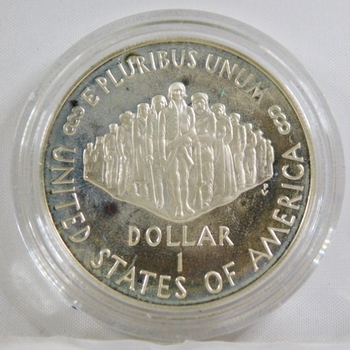 1987-S US Constitution 200th Anniversary Commemorative Proof Silver Dollar*Protective Capsule