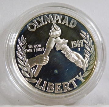 1988-S Proof Seoul Olympiad Silver Dollar*In Protective Capsule*DCAM