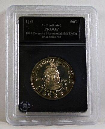 1989-S Proof Congress Bicentennial Commemorative Half Dollar*Authenticated Proof