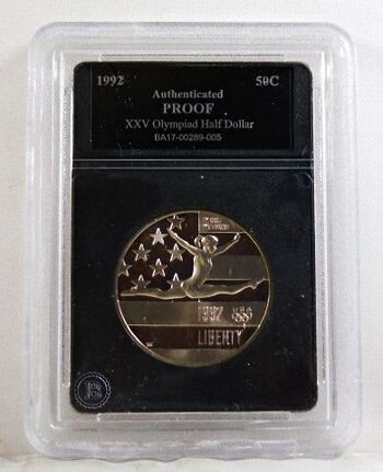 1992-S Proof XXV Olympiad Commemorative Half Dollar*Authenticated Proof