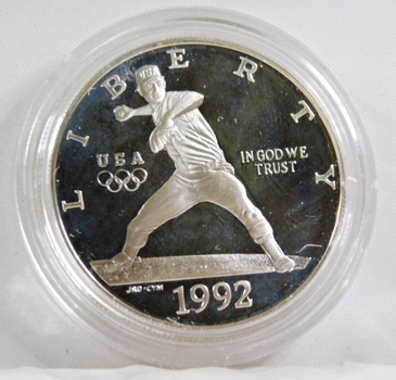 1992-S Proof XXV Olympiad Silver Dollar*In Protective Capsule*DCAM