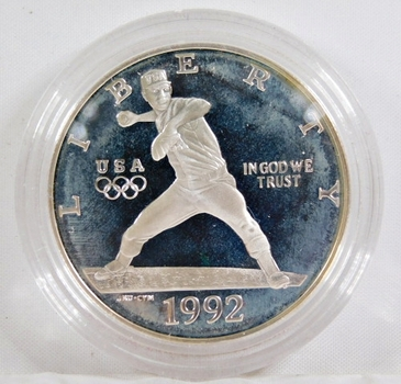 1992-S XXV Olympiad Commemorative Proof Silver Dollar*In Protective Capsule