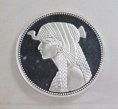 1993 Egypt Proof Silver 5 Pounds*Cleopatra*DCAM