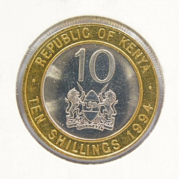 1994 Kenya 10 Shillings*Brilliant Uncirculated