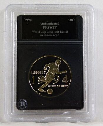 1994-P Proof World Cup Commemorative Half Dollar*Authenticated Proof