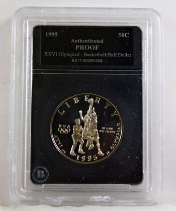 1995-S Proof XXVI Olympiad Basketball Commemorative Half Dollar*Authenticated Proof