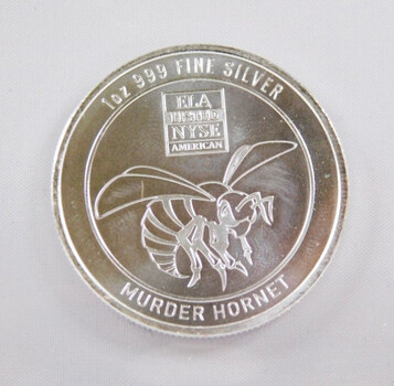 "1oz .999 Fine Silver ""Murder Hornet"" Bullion Round High Grade"
