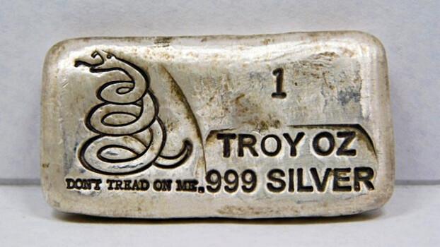 """1oz .999 Silver """"Don't Tread On Me"""" Casted Bullion Bar"""