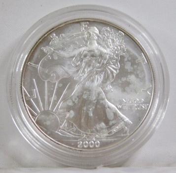 2000 American Silver Eagle*1oz .999 Fine Silver*In Protective Capsule