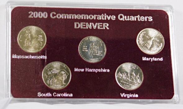 2000 Commemorative Quarters Massachusetts South Carolina New Hampshire Virginia Maryland