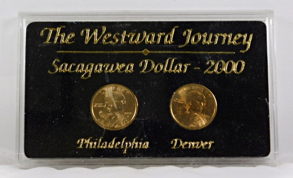 2000-P & D Sacagawea Dollars*Uncirculated in Protective Display Case