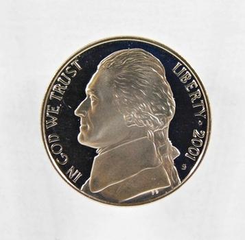 2001-S Proof Jefferson Nickel*DCAM