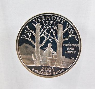 2001-S Silver Proof Vermont State Commemorative Quarter*DCAM