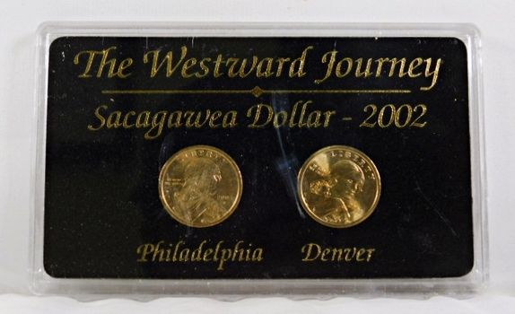 2002-P & D Sacagawea Dollars*Uncirculated in Protective Display Case