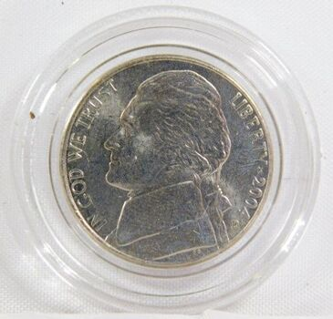 2004-D Colorized Jefferson Peace Metal Commemorative Nickel - Uncirculated in Capsule