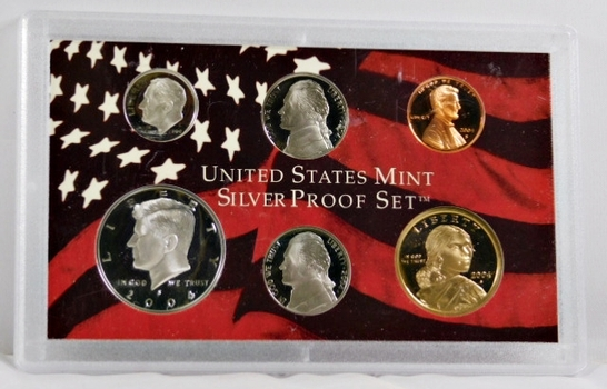 2004-S United States Mint Silver Proof Set - No Box Available but in the Original Mint Holder