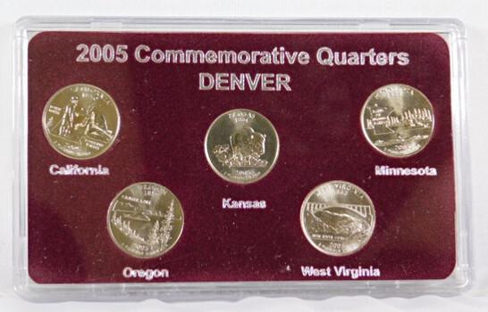 2005-D Commemorative Quarters Sent Denver 5 Coins