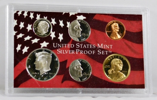 2005-S United States Mint Silver Proof Set - No Box Available but in the Original Mint Holder