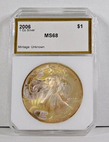 2006 American Silver Eagle*Graded MS68 by PCI*1oz .999 Fine Silver