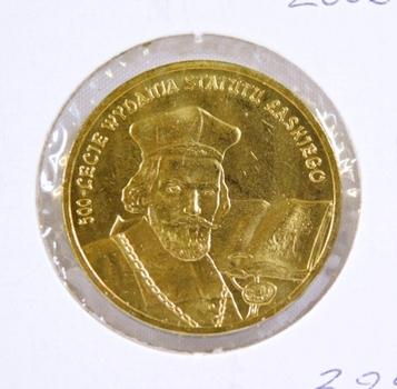 2006 Poland 2 Zlote - Jan Laski and Book - Brilliant Uncirculated