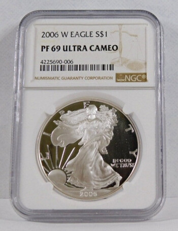 2006-W American Proof Ultra Cameo Silver Dollar (PF 69) NGC Holder