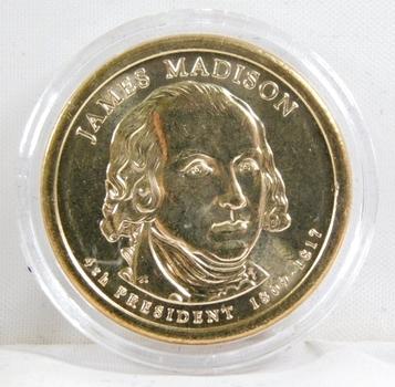 2007-D Brilliant Uncirculated James Madison Presidential Commemorative Dollar - In Protective Capsule