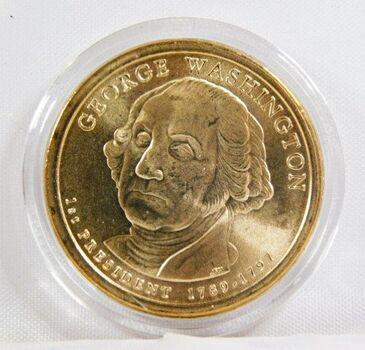 2007-D George Washington Commemorative Presidential Dollar - Uncirculated in Original Capsule